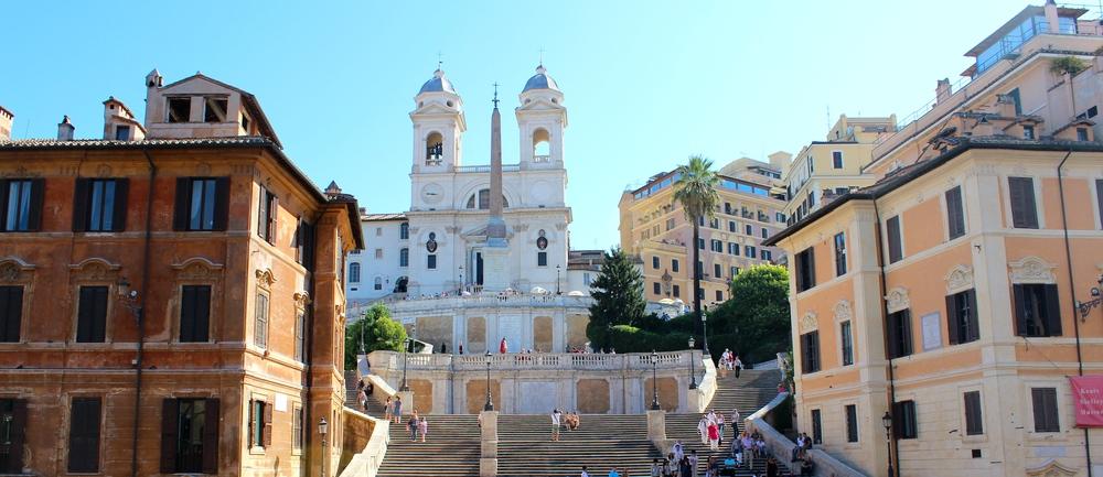 Blick auf die Spanische Treppe