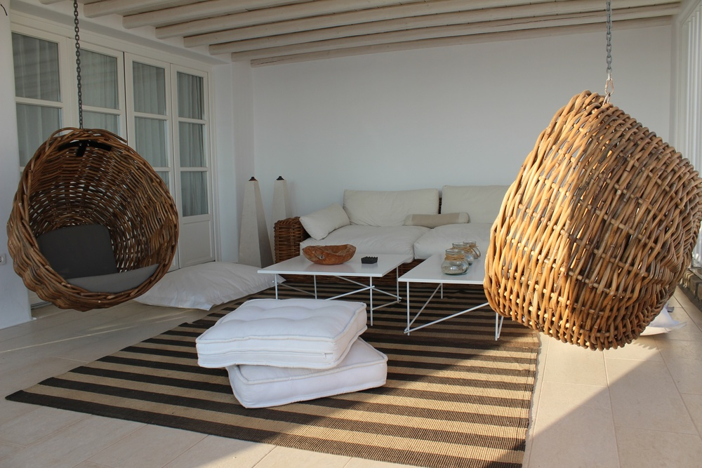 Balkon Myconia Villa Collection Griechenland Mykonos Hotelbeschreibung Tipps für Mykonos Blog für Frauen über 40 und über 50. BeFifty Blog für Frauen über 40 und 50. Reisetipps Griechenland.