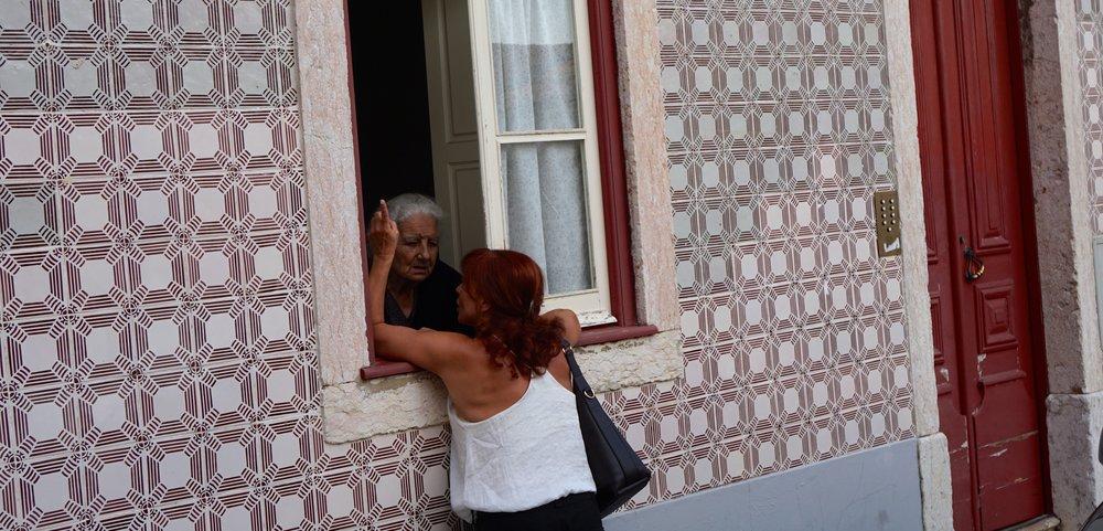Typische portugiesische Häuserfassade