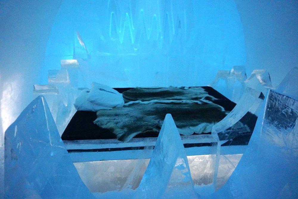 Jedes Zimmer wurde von internationalen Eiskünstlern individuell gestaltet.Dieses hat mir besonders gut gefallen.