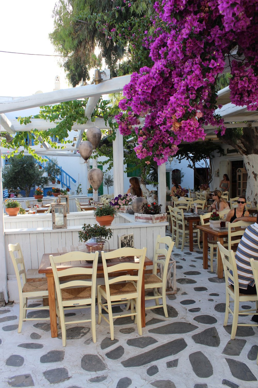 Taverne in Mykonos Stadt.