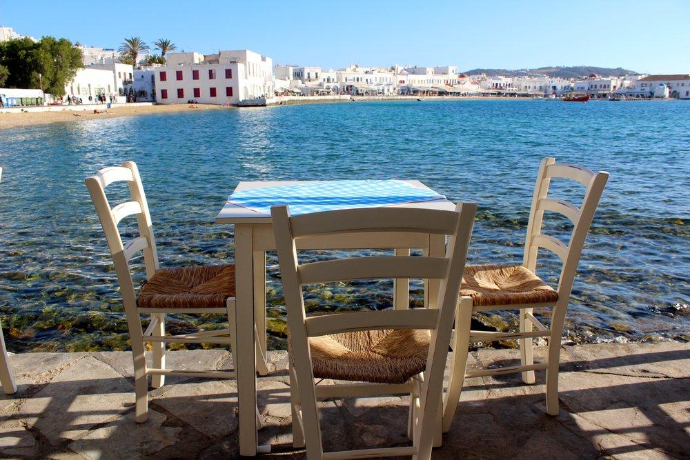 Direkt am Hafen von Mykonos Stadt.Glasklares Wasser und alles, was man von einem Urlaub in Griechenland erwartet,