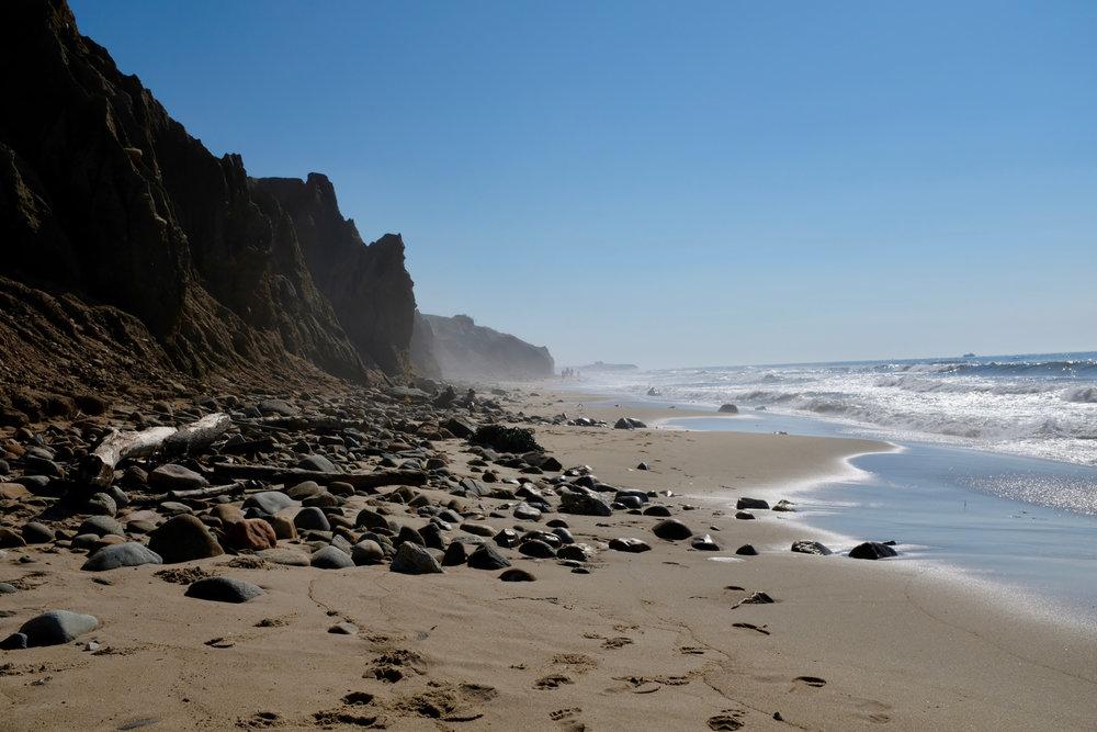 Wilder Strand, menschenleer. Die wilde Seite von Montauk.