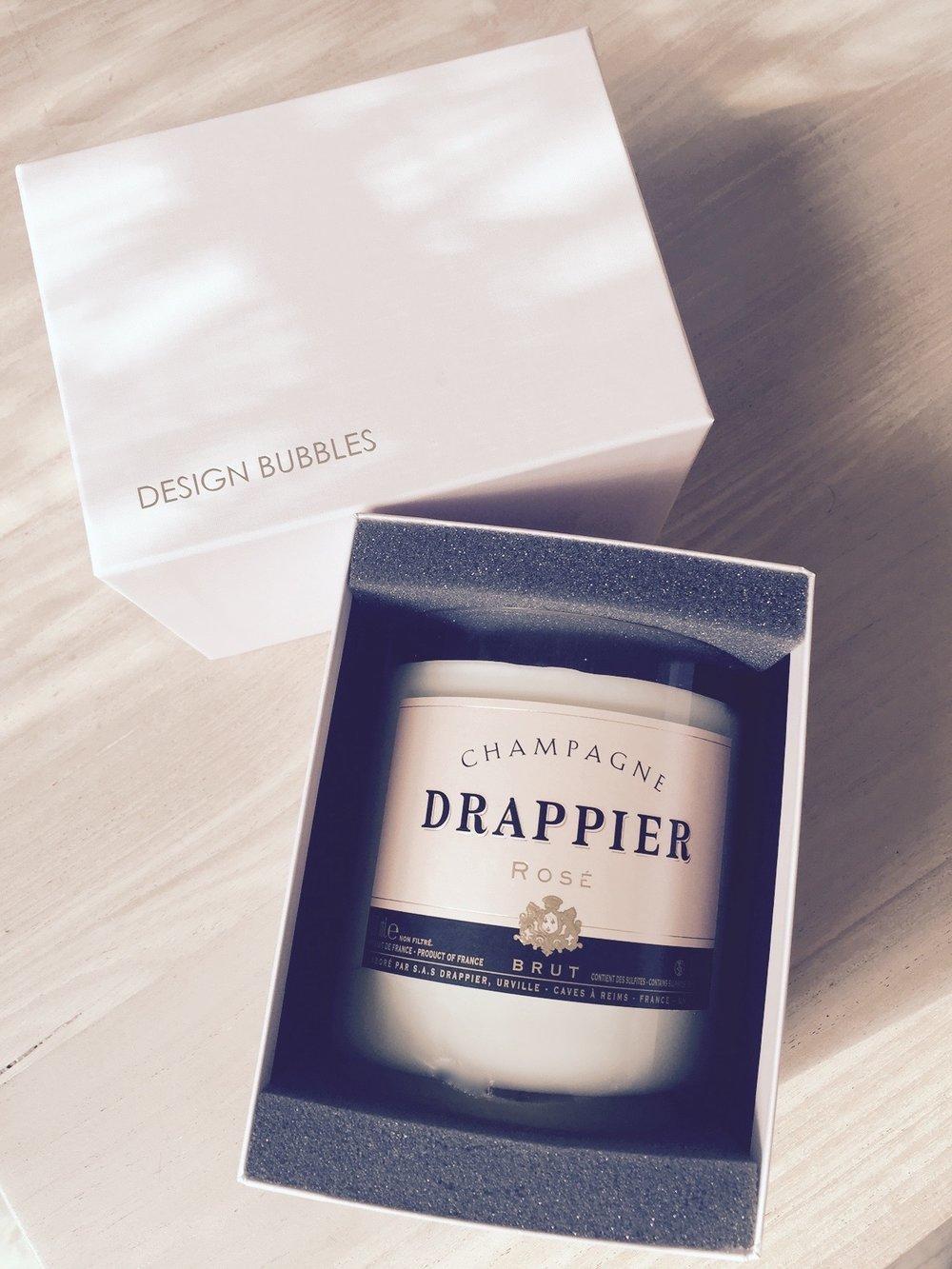 Duftkerzen Design Bubbles Champagner Flaschen Upcycling Blog für Frauen über 50