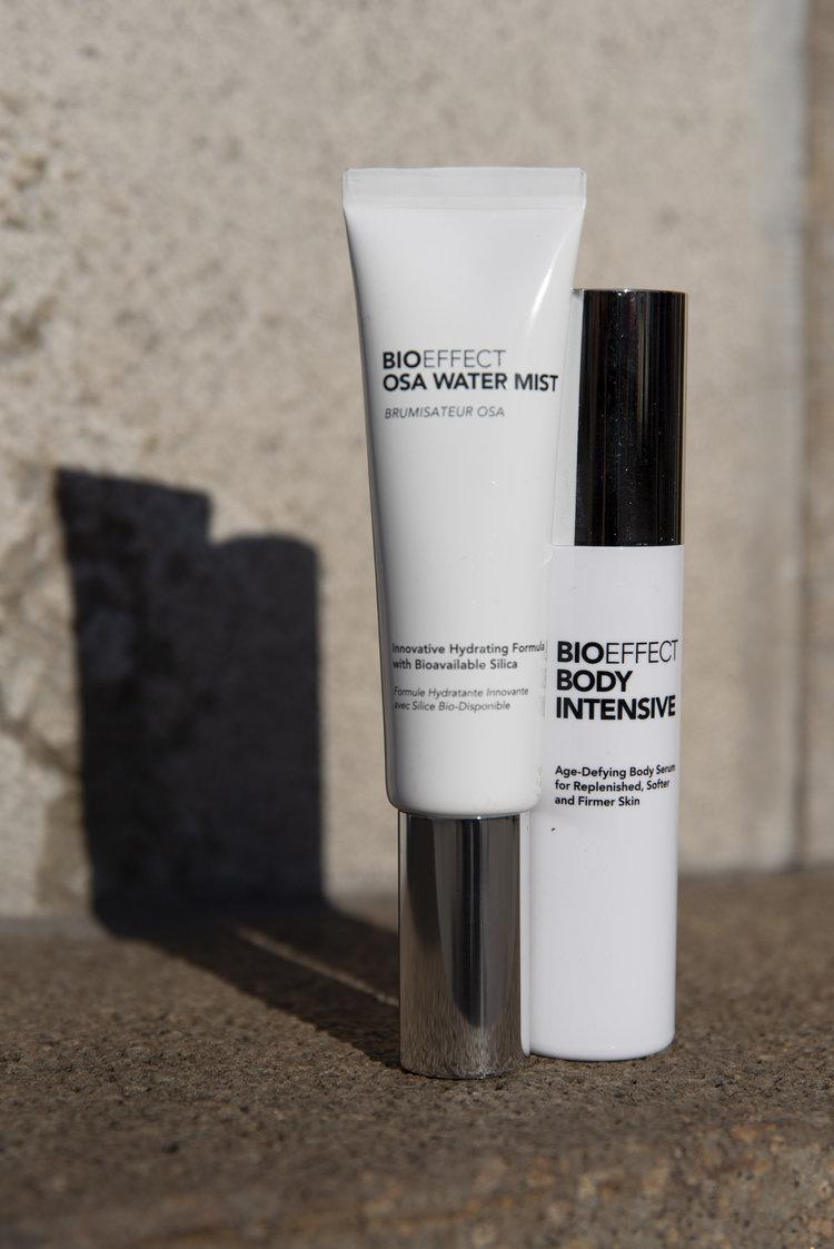 Bio Effect Kosmetik OSA WATER MIST und BIO Effect BODY INTENSIVE Blog BeFifty Beate Finken für Frauen über 40 und ab 50 Test Kosmetik Hautpflege und Körperpflege