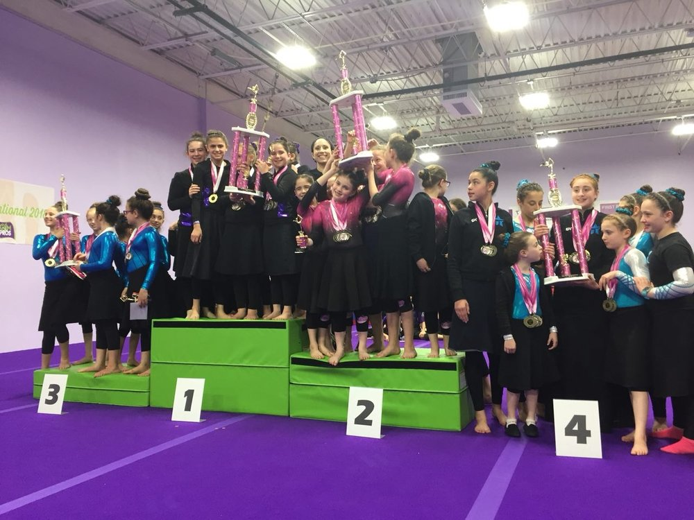 team Track - The Team Track requires the most commitment from both the gymnasts and their parents. Team gymnasts receive rigorous training multiple times per week in order to compete against elite Jewish gymnasts from around the country. Team classes are divided by the USAG Levels. See more Team information here.