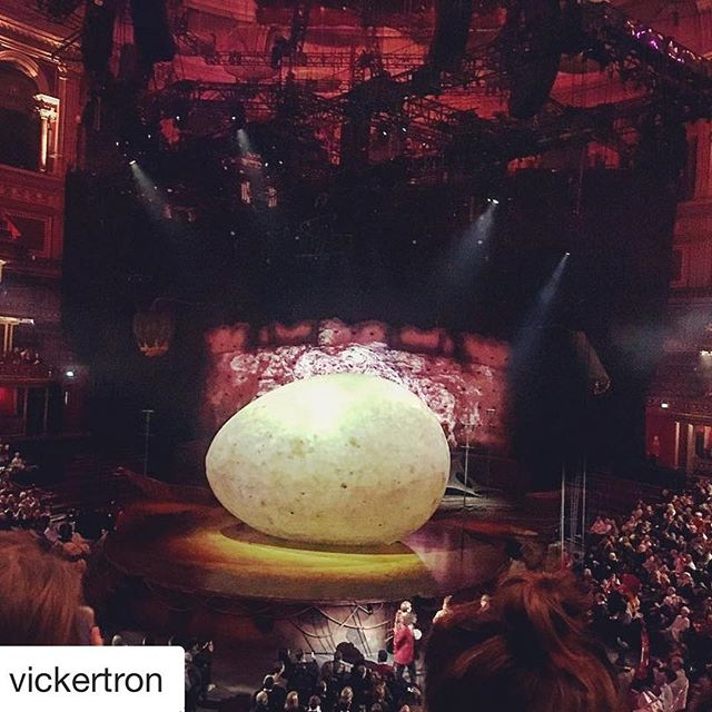 @vickertron at the @royalalberthall this evening with @theeconomist. Enjoy! #allworkandnoplay #cirquedusoleil