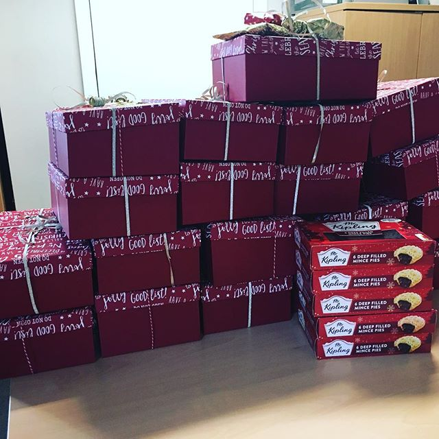 #charitychristmas #shoeboxes for Connection at St Martin's #homeless charity.