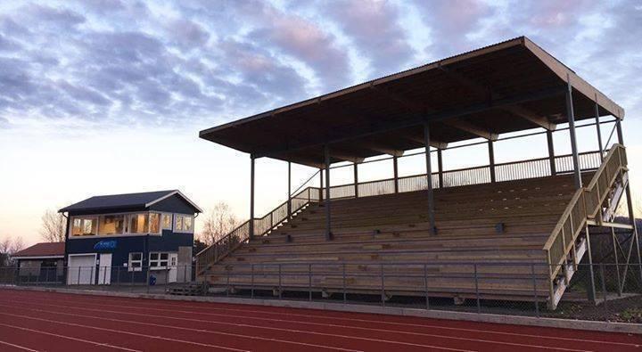 19.oktober 2016 ble tribunen på Stangnes Idrettspark ferdigstilt