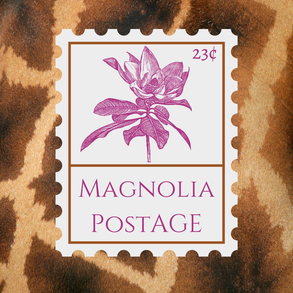 6 20 Cent Vintage Stamps Magnolia Postage
