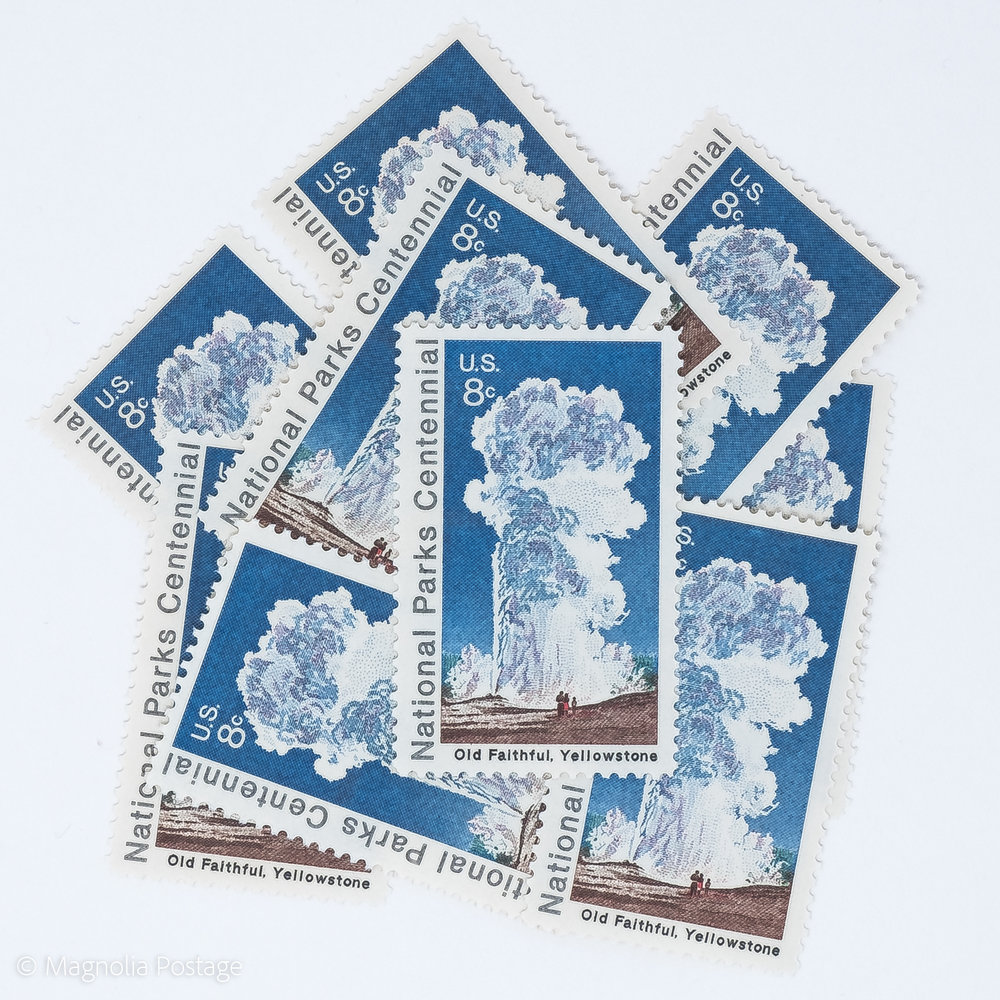 10 X 8 Cent Old Faithful Yellowstone Stamps