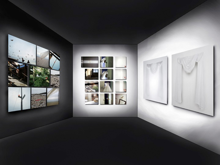 Portrait In White,  2002 Virtual Space, New York