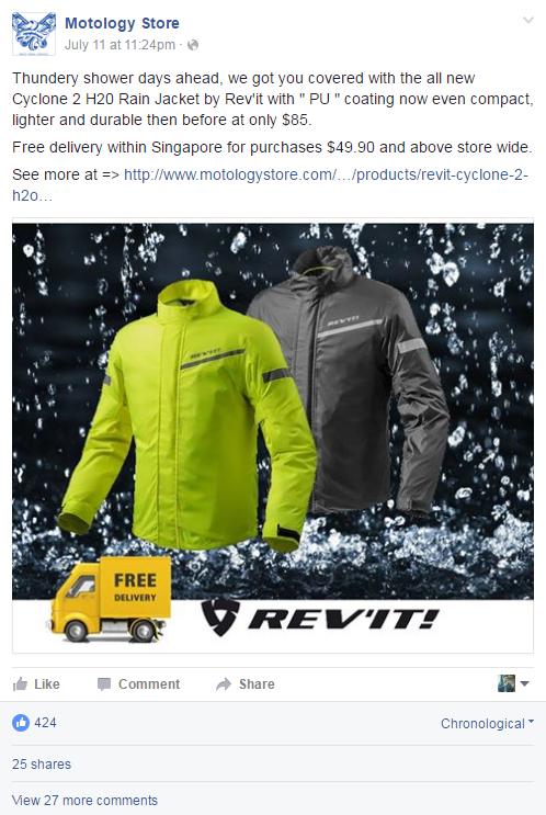 Revit Raincoat Singapore