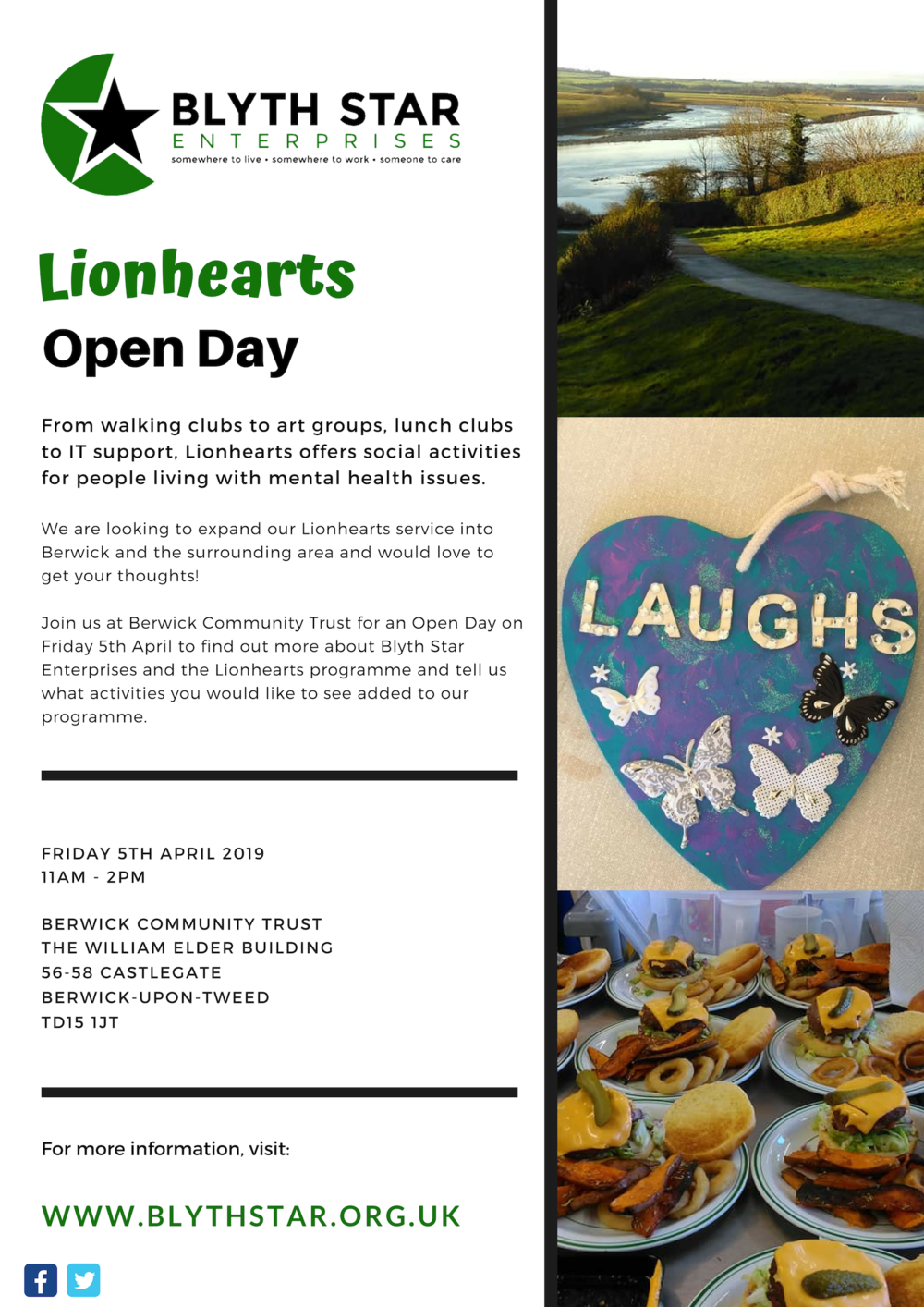 Lionhearts open day poster