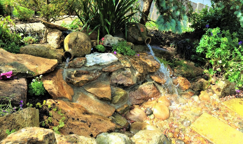 After… - Bespoke urn fountainscape water feature