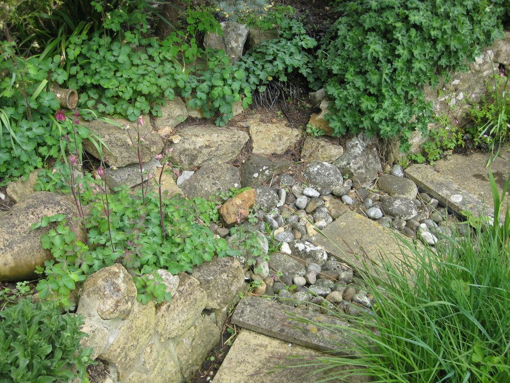 Before… - Water feature in disrepair