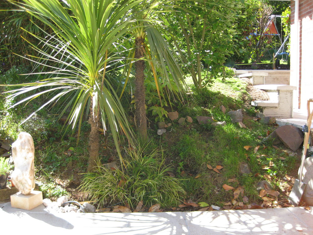 Before… - A steep slope wanting a waterfall