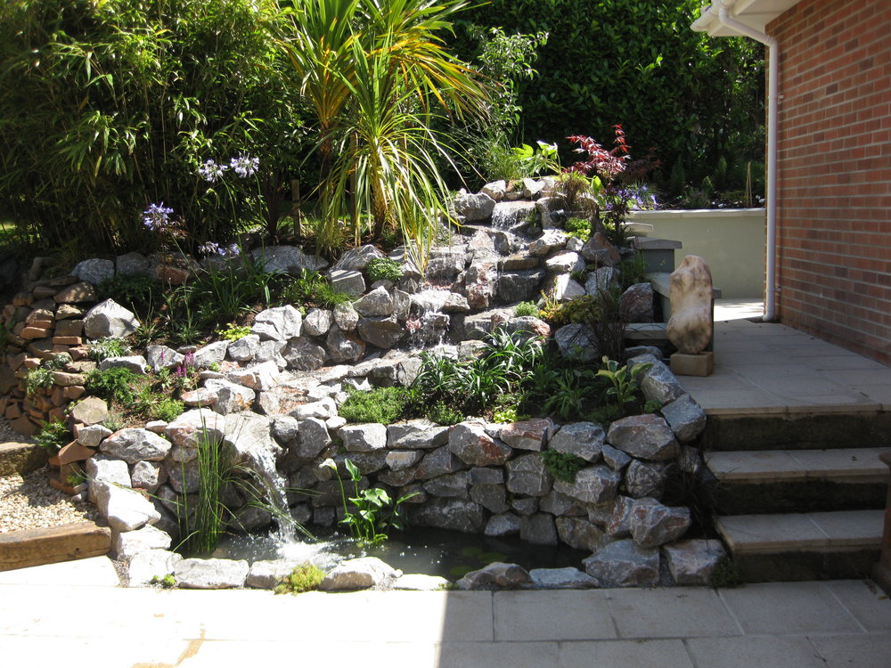 After… - Cascading water feature