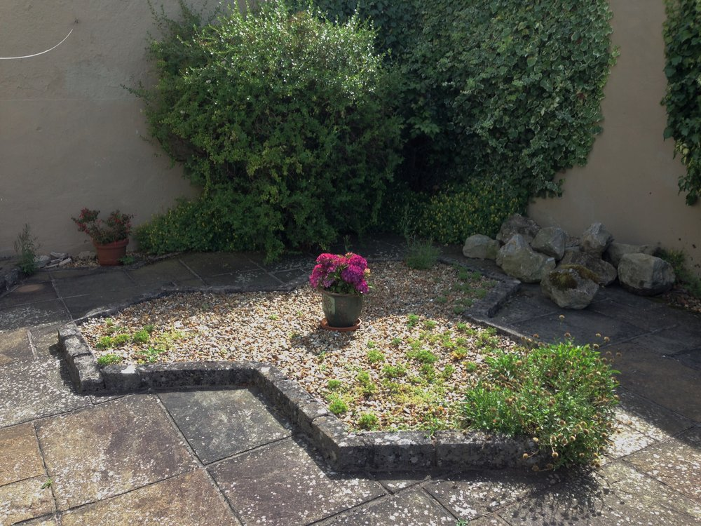 Before… - Almost featureless court yard needing some life