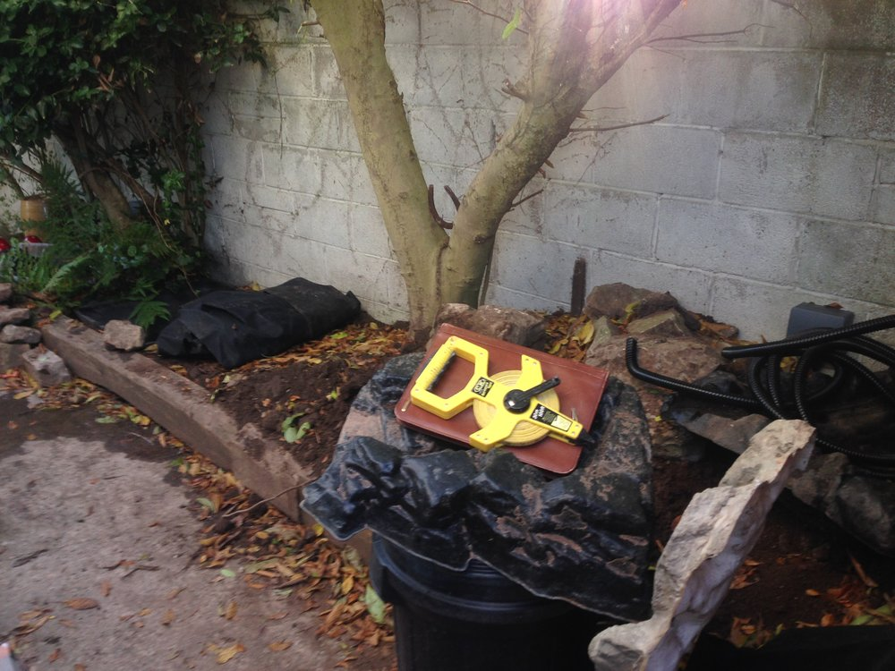 Before… - An abandon project by local landscaping firm