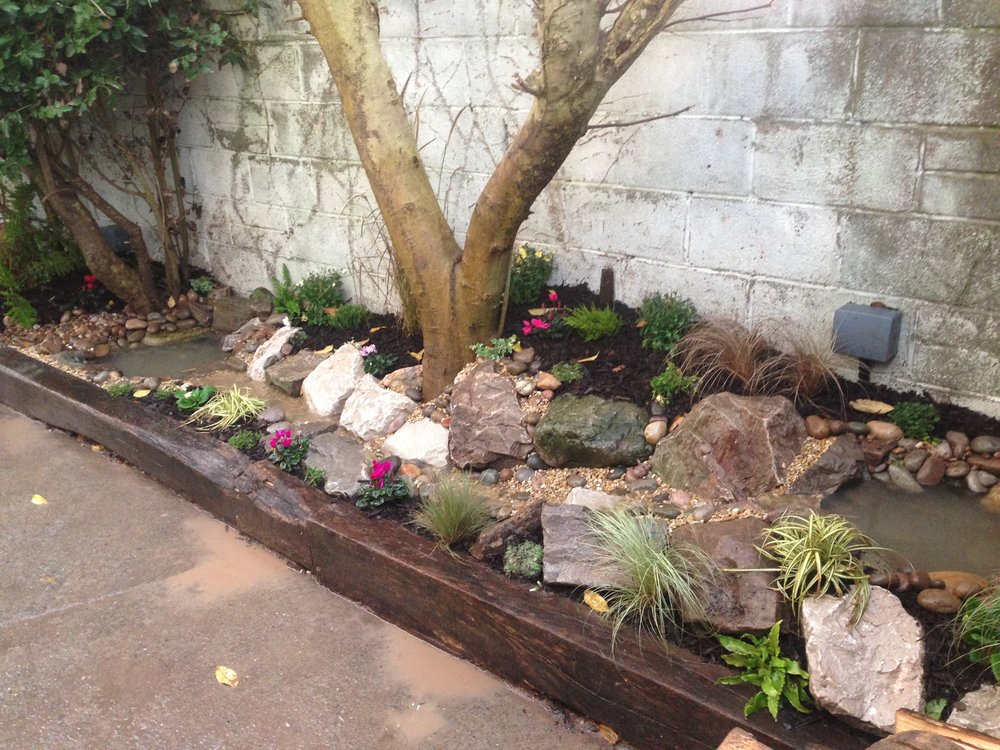 After… - What the client had dreamt for, a miniature fairy themed water garden