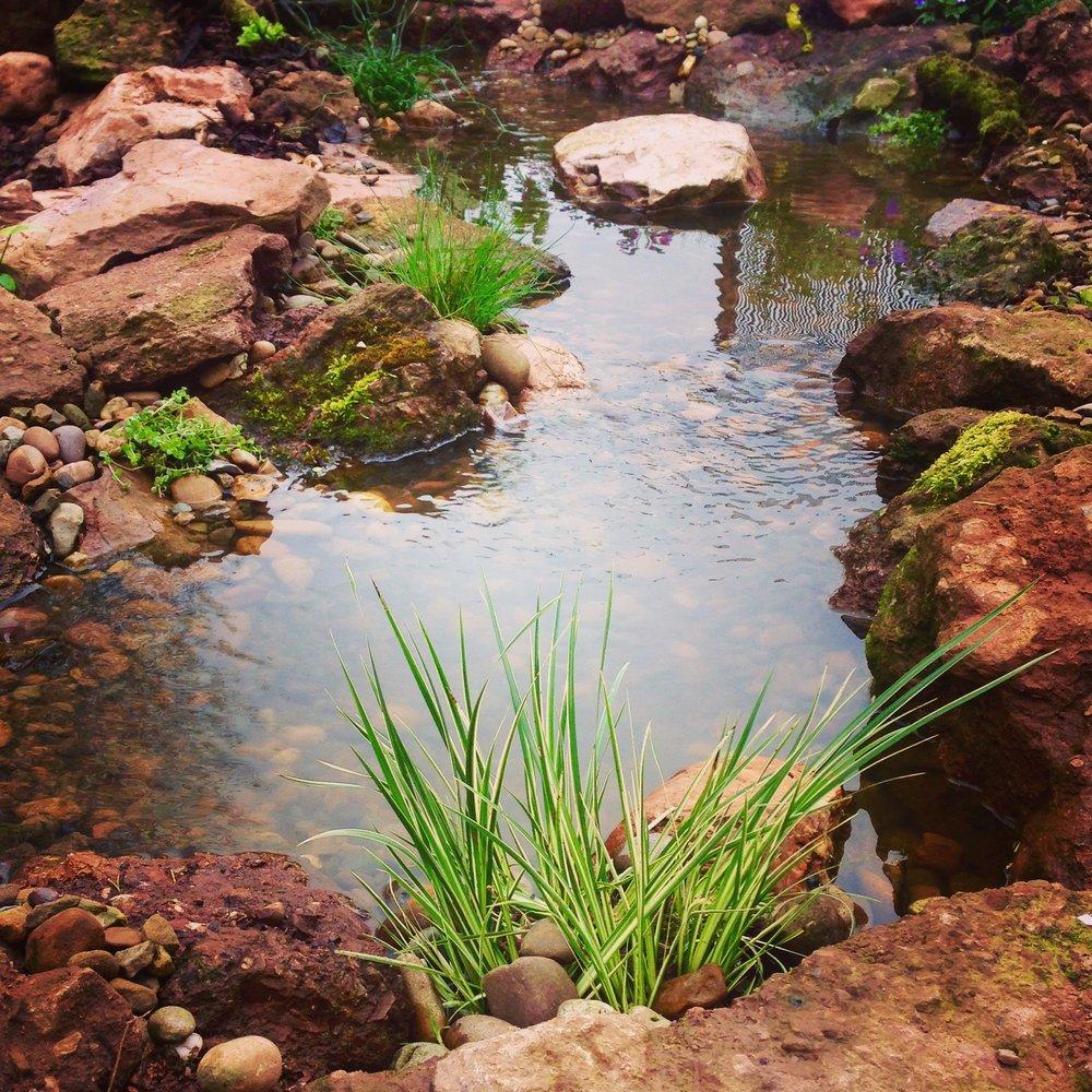 A babbling stream