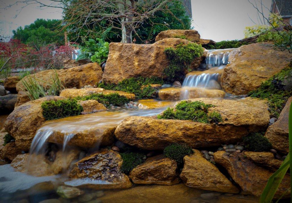 Small bespoke cascading waterfall