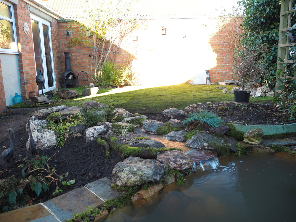 After… - Natural looking stream and waterfall, exactly what the client wanted