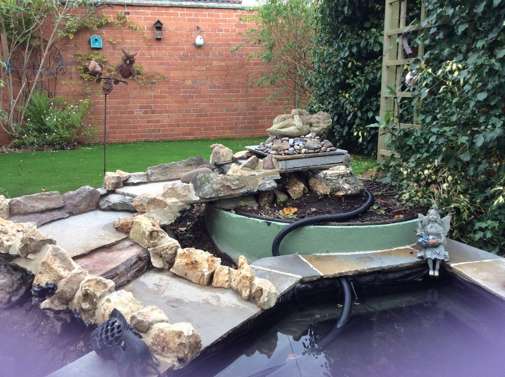 Before… - A poorly constructed leaky water rill
