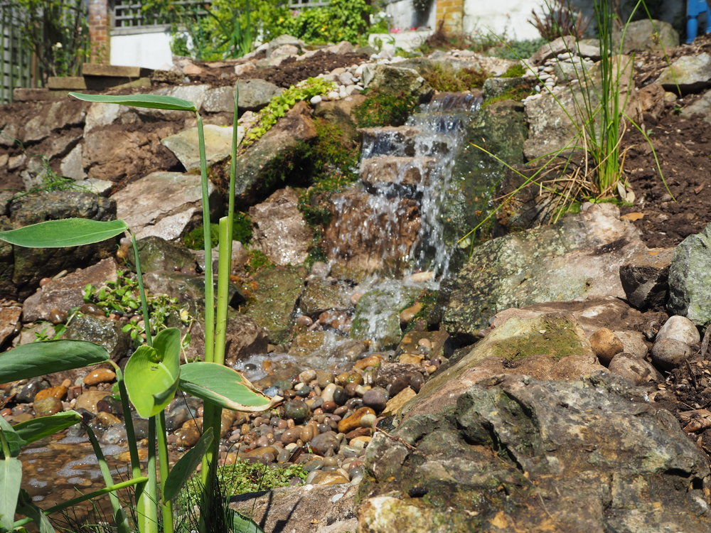 After… - A naturalistic tumbling waterfall