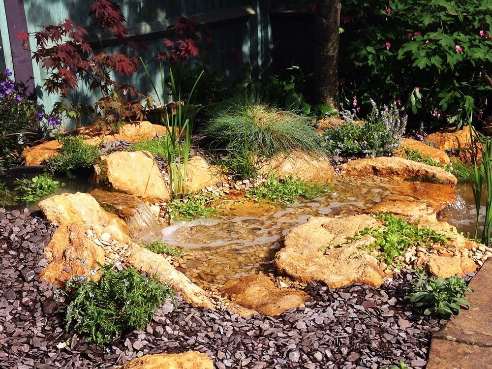 After… - A miniature stream to bring the tranquil sound of water to the garden