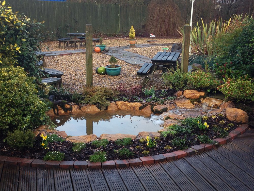 After… - The little fish pond has been brought back to life
