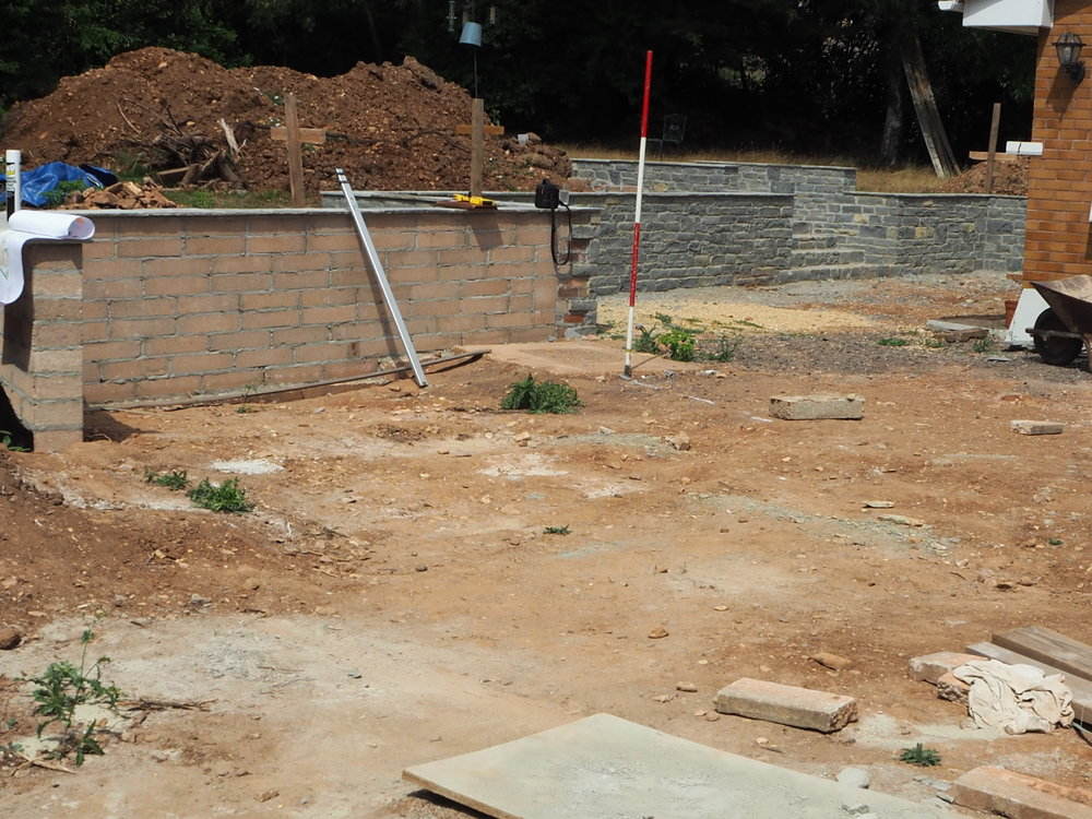 Before… - A barren area of a garden needing to be brought to life