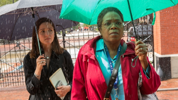 Byrne and Winfrey as Rebecca Sloot and Deborah Lacks in 'The Immortal Life of Henrietta Lacks.' Image Credit:  HBO