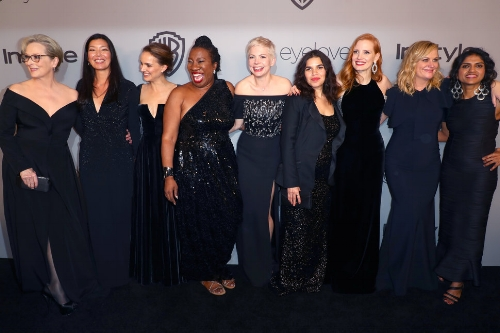 Actors and activists at the 75th Annual Golden Globes.  Image Credit:  The Huffington Post