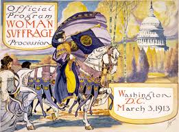 Official program from the Woman's Suffrage March to Washington (1913). Image Credit:  Wikipedia