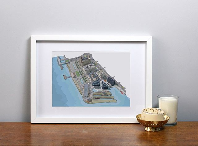 After lots of lovely comments about my aerial view of the docks illustration... I have now listed it on my Etsy shop! Loved drawing this one! ✏️ available to by at A4 & A3 🙂 Link in my bio