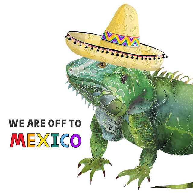 I am off to see the real life iguanas...& more importantly to fulfil my bridesmaid duties for my cousins wedding in Mexico! 🇲🇽👰🏽 So I will be away from the 9th-19th May. My lovely fiancé will be at home & will be able to post out any Etsy orders (so things may be a bit slower than usual). Any new custom orders will have to wait until my return! I'll be able to respond to any questions on my phone in between iguana spotting & margaritas 🦎🍸