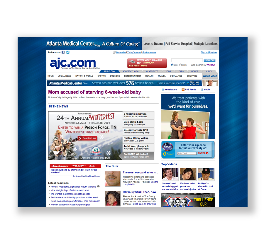 Atlanta Medical Center AJC Website Takeover