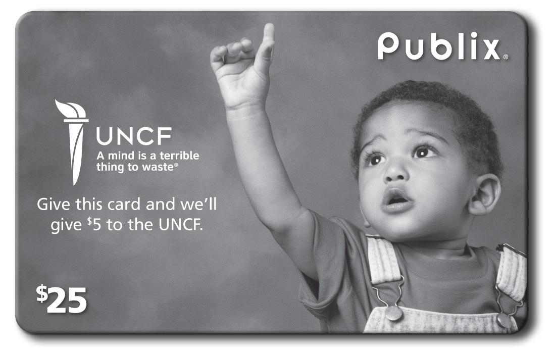 UNCF Publix Gift Card