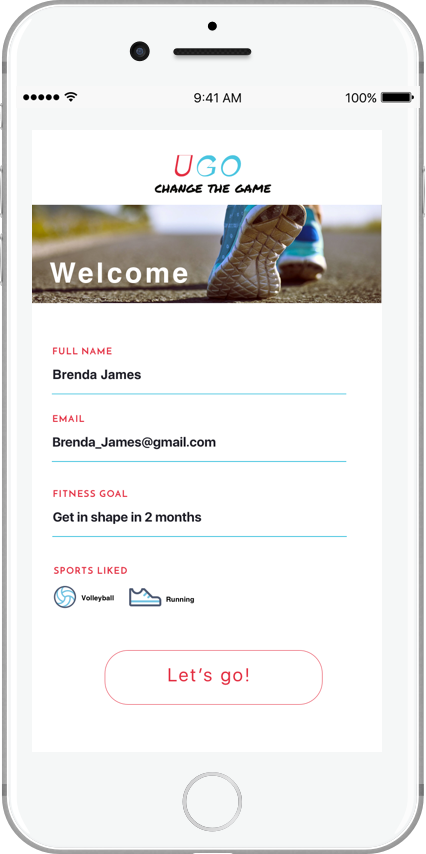 Online product registration to keep track of fitness