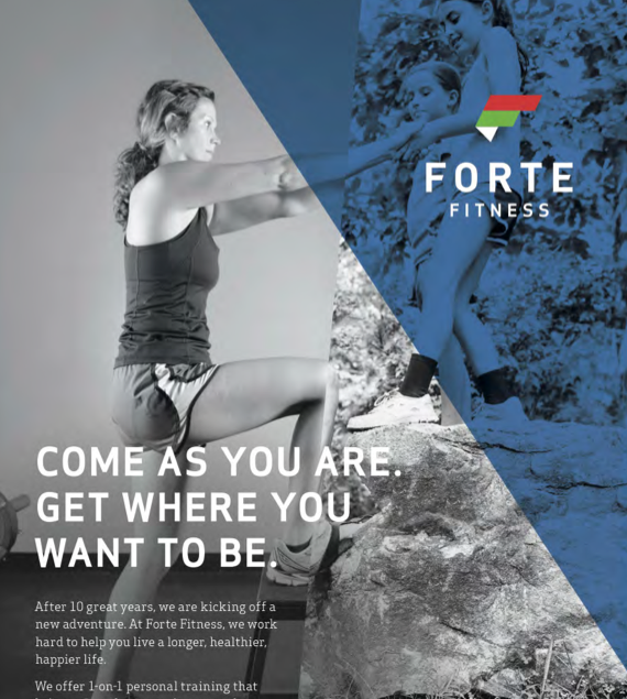Forte Fitness Graphic Design for Print Advertisement
