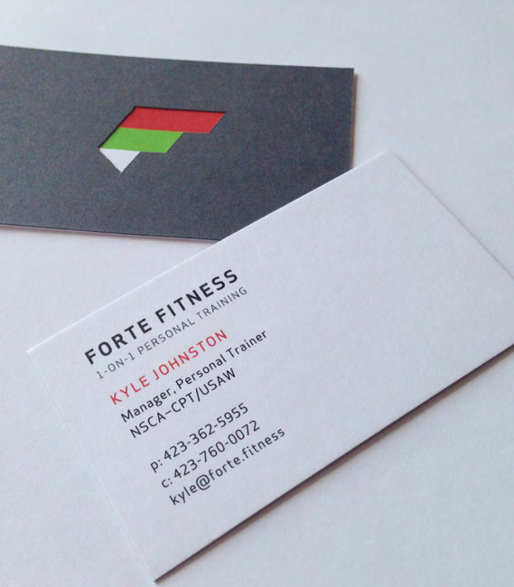 Forte Fitness Branded Business Cards