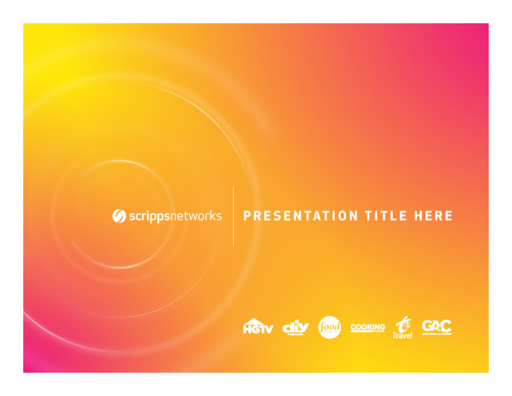 Scripps Networks HGTV, Food Network - Graphic Design Rebrand Strategy and Treatment
