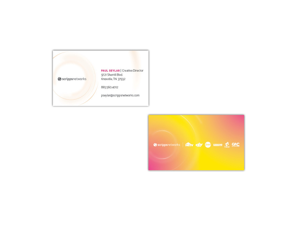 Scripps Networks Graphic Design for  Business Card