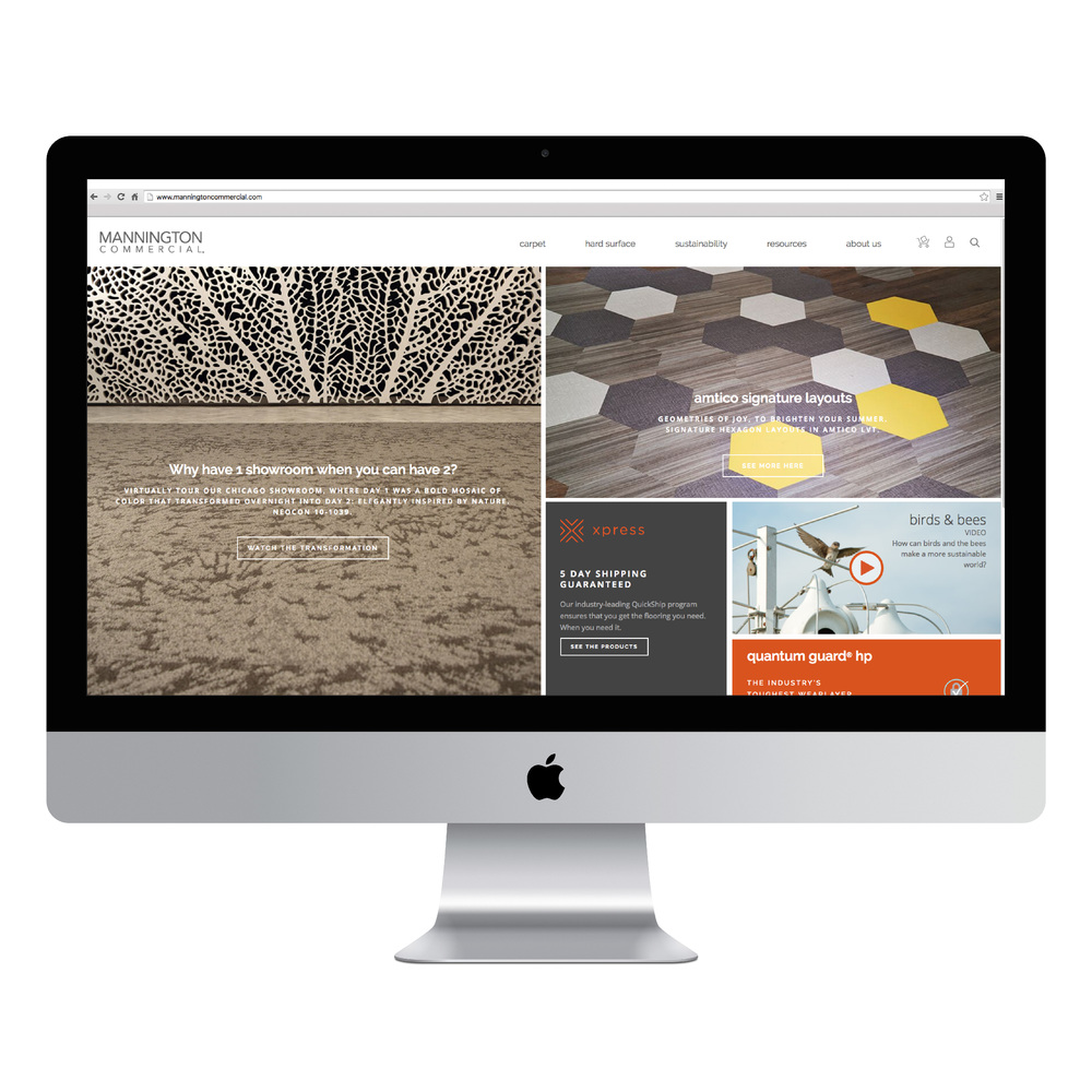 Mannington Commercial Website Design