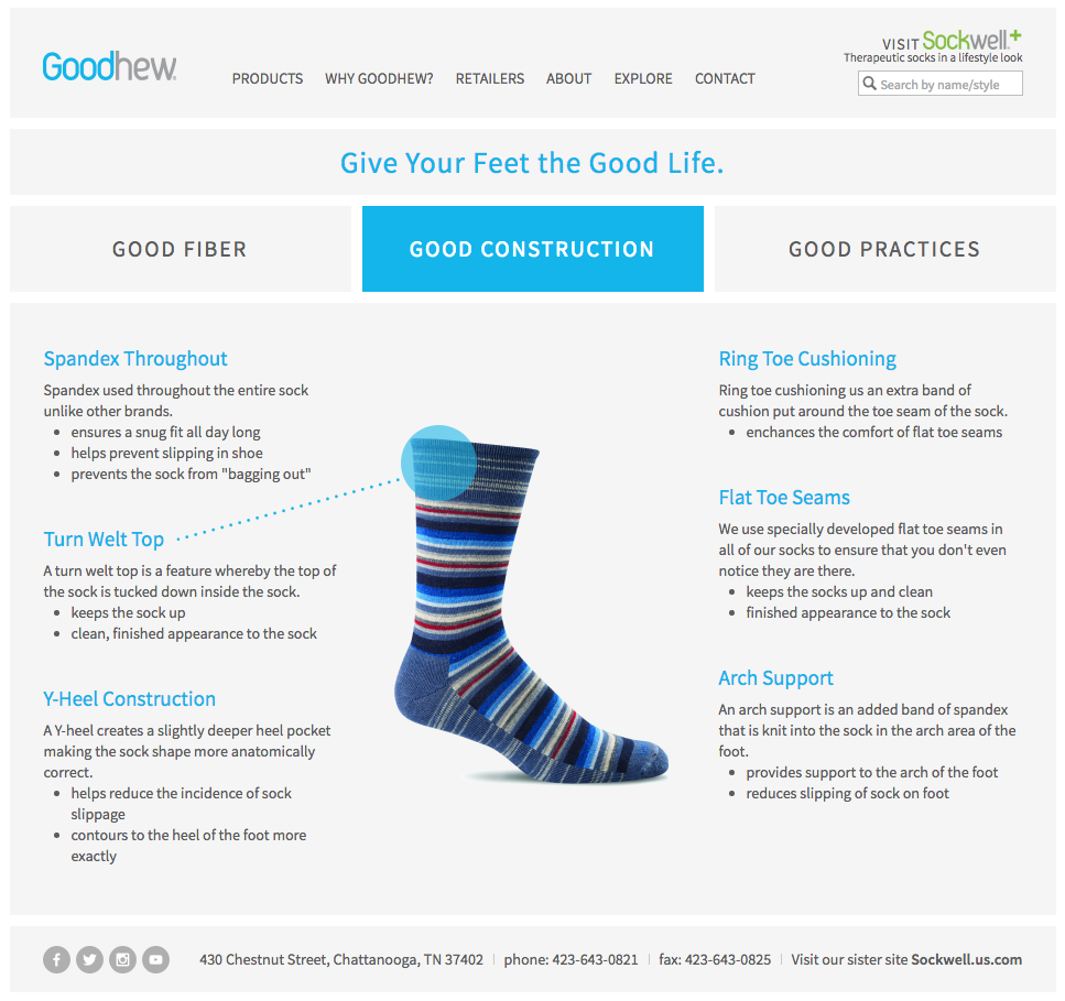 Goodhew Graphic Design for Sockwell Website