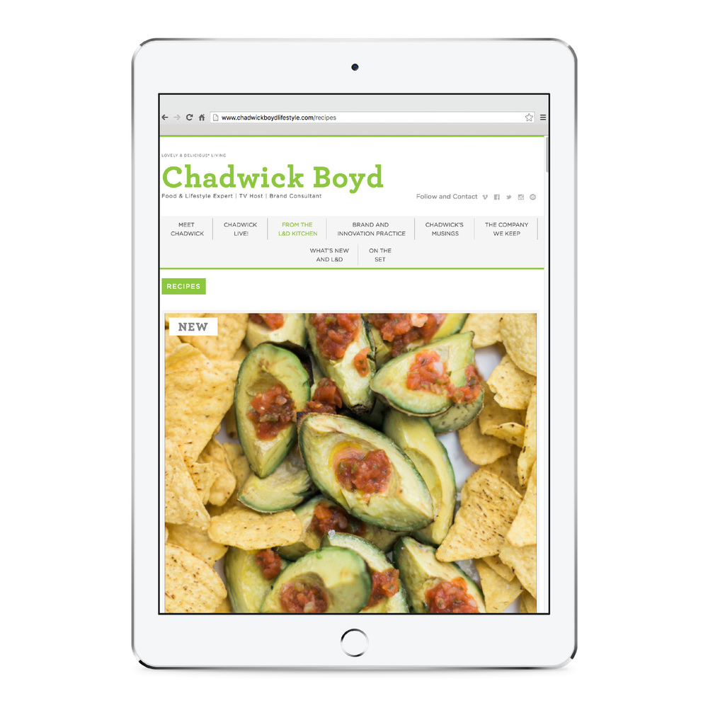 Chadwick Boyd Website Design on ipad