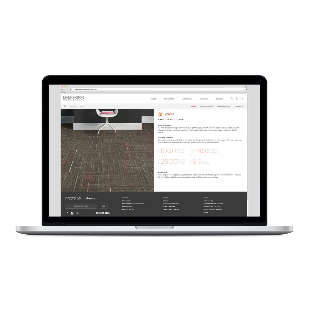 Mannington Commercial Web Mock up