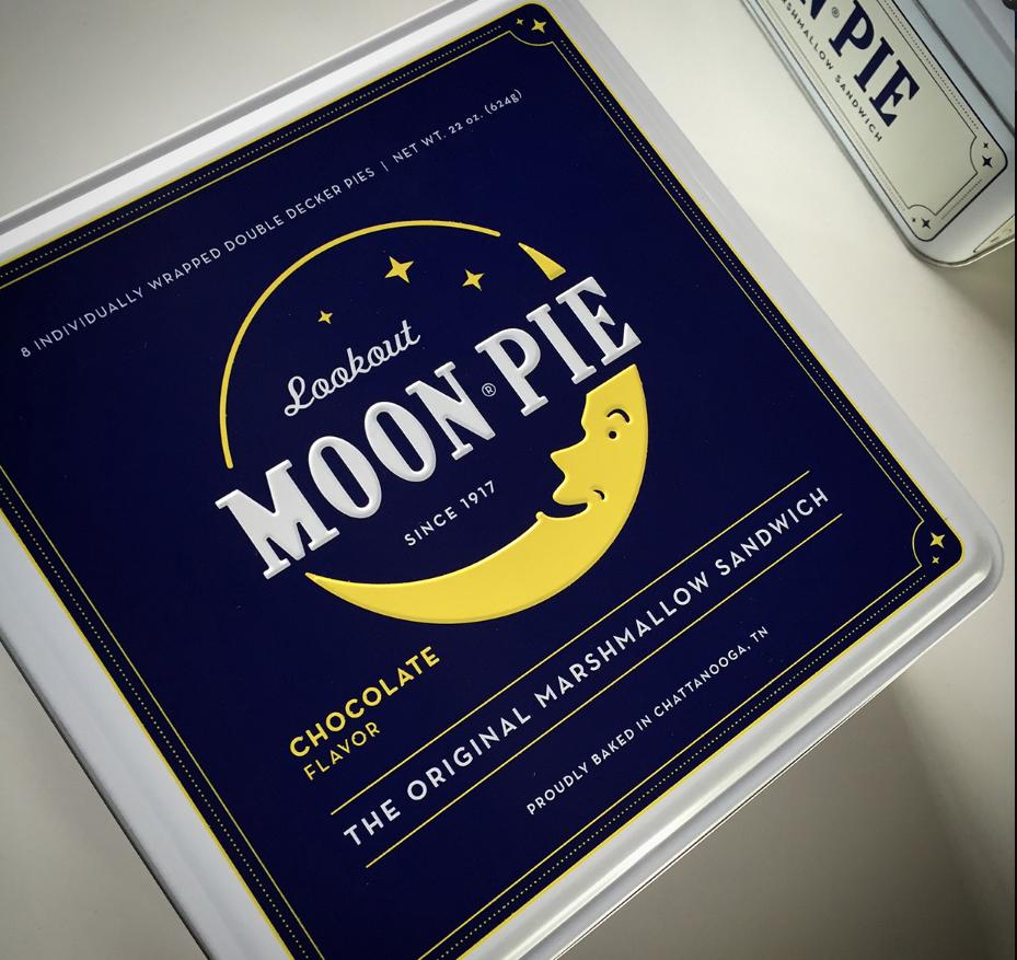 Moon Pie Branded Tin Packaging Design